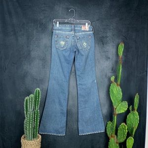 🆕True Religion Bobby Flare Medium Wash Jeans A466